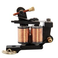 Wholesale New Pro Shader Liner - Wholesale- 2016 new High quality free shipping Tattoo Machine Gun Motor Shader Liner 8 Wrap Coils Black Pro Rotary Alloy Body Art Durable