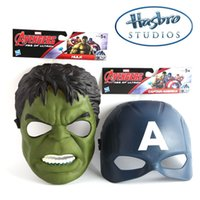 Marvel Superhero Costume Avengers Enfants Cartoon Masque Capitaine America Hulk Role Playing Masques pour enfants Jouets Taille unique Fit Enfant de cinq ans