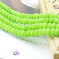Wholesale White Opaque Beads - New Woman 5x8mm Olive-Green Jade Stone Accessories Crafts Loose DIY Beads Jasper Abacus Jewelry Making Design Gems 15inch Opaque