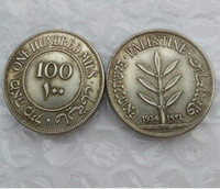 Wholesale British Money - Israel Palestine British Mandate 100 Mils 1934 Silver Coin Promotion Cheap Factory Price nice home Accessories Coin