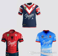 Wholesale Spider Man Top - top quality 16-17 Sydney Roosters rugby jerseys men 9S rugby shirts Spider Man jerseys home jerseys Roosters shirts size S-3XLfree shipping