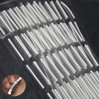 Wholesale Eyelash Rods - Wholesale-Small Size Eyelash Perming Rod 32PCS Curler Stick Professional False Eyelash Wave Perming Curved Curling Rods Perm Sticky