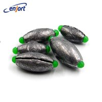 Fournitures De Gros De Fournitures De Plomb Pas Cher-Vente en gros - Enjort 3pcs / lot Open Lead Sinker Accessoires en forme d'olive pour Lure Sea Fishing Quick Change Line 5 Size Fishing Supplies