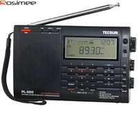 Wholesale Vhf Receiver - Wholesale-Brand New TECSUN PL-660 Radio PLL SSB VHF AIR Band Radio Receiver FM MW SW LW Radio Multiband Dual Conversion Digital Receiver
