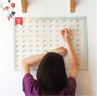 Wholesale Paper Wall Calendar - 2017 Real Special Offer Notepads Notes Address 10pcs set 100 Day Countdown Calendar Schedule Planner Wall Sticker