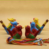 ingrosso giocattoli di ceramica dei bambini-Fischietto in ceramica fatti a mano Giocattoli creativi per bambini Arti e mestieri regalo per molti stili Acqua Ocarina 1 49mc C