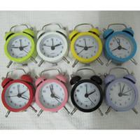 Wholesale Material Clock - Creative burst Pocket Mini alarm clock stainless steel metal material