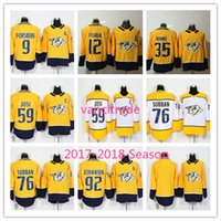 Wholesale Roman Blue - 2017-2018 Season Nashville Predators 9 Forsberg 12 Mike Fisher 35 Pekka Rinne 59 Roman Josi 76 PK Subban 92 Ryan Johansen Hockey Jerseys