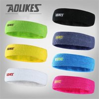Wholesale Football Sweatbands - Women Men Sweat Sweatband Headband Yoga Gym Exercise Fitness Stretch Head Band Hair Badminton Grip Sports Safety Football M038