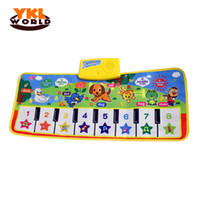 Wholesale Baby Songs Animals - Wholesale- 2016 New Fashion Baby Music Carpet Singing Songs Baby Playing Mats Educational Toys Baby Kids Child Piano Music Animals Mats -50