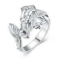 ingrosso condurre i draghi-I monili liberi di nuovo di modo dell'anello di dimensione del drago dell'argento dei monili d'argento all'ingrosso 925 di modo liberano il trasporto R054