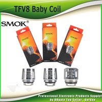 Wholesale Smoktech Coils - Original Smok TFV8 Baby Coil Head V8 Baby T8 T6 X4 Q2 0.4 0.6ohm M2 0.15ohm 0.25ohm Core Replacment coil 100% Authentic SmokTech 2218043
