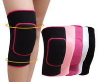 Wholesale Volleyball Knee Protectors - 1 Pair Thick Soft Sport Knee Protector Support Tennis Volleyball Dance Running Gym Sports Training Exercises Knee Pads For Kids Girls Boy