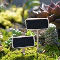 ingrosso legno del notebook-20 pz Lavagna Notebook Legno Artigianato Fairy Garden Miniature Bonsai Strumenti terrario Figurine Zakka Billboard Gnomi Home Decor Accessori