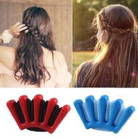 Wholesale Hair Bun Braided - braiding hair clip twist high quality creative for Women Hair Accessories headwear holder bun bang DIY