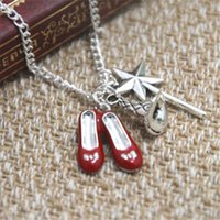 Wholesale 12pcs Wizard of Oz Inspired Charm Necklace silver tone