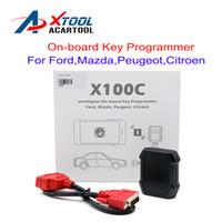 leitor de código pin peugeot venda por atacado-Original XTOOL X100C Auto Programador Chave para iOS Android melhor do que F100 F108 F108 X100 C Pin Leitor de Código com Função Especial