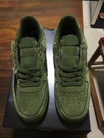 Wholesale Mens Hip Hop Shoes - UPJERO ForcEs Mens Women army green hip hop dancing ONe 1 Shoes Eur 36-45 High 07 LV8 WB Flax Skateboarding 1 low 07 Shoes free shipping AiR