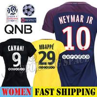 Wholesale sg black - SG Women Jersey 2018 NEYMAR JR KYLIAN MBAPPE CAVANI DI MARIA 2017 Soccer Ladies Football Shirt LUCAS SILVA VERRATTI DRAXLER Maillot Paris