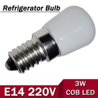 Wholesale Fridge Bulbs - Wholesale-1Pcs New Mini E14 3W AC 220V 240V LED Candle lamp COB Bulb Chandelier light For Fridge Refrigerator Freezer