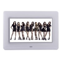 Wholesale-7 pollici Digital Photo Frame HD porta TFT-LCD retrato elettronica sveglia Presentazione Calendario MP3 / 4 Movie Player con Remote Desktop