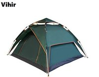 Wholesale Camping Gazebo Tent - Double Layer 3 Person Dome Waterproof Tent Family Tent Quick Open Camping Tent Sun Shelter Gazebo Beach Tents for Caming&Hiking