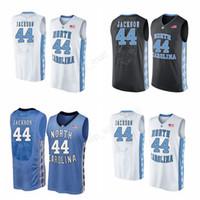 Wholesale High Heels 44 - Men 44 Justin Jackson Jersey North Carolina Tar Heels Basketball Justin Jackson College Jerseys All Stitched Black Blue White High Quality