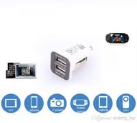 usb 5g venda por atacado-5v 3.1a 3.1amps mini micro usb dual usb carregador de carro usams para iphone 4s 5g 3GS ipod ipad