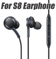 Wholesale Headset Plugs - For S8 In Ear Earphone High Quality Mic Volume Stereo 3.5mm Wired Headset For S8 Plug S4 Android Phone