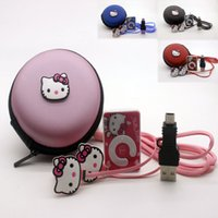Wholesale Cheapest Music Player - Hot sale cheapest 100% New fashion Band mini clip Hello Kitty music MP3 player support TF card with earphone and cable bag