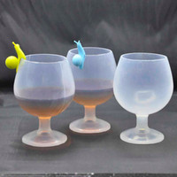 Silicone Bière Tasses Silicone Vin Lunettes Incassable Pliable Stemless Bière Whisky Cocktail Tasses Camping En Plein Air Gobelet 100 pcs OOA1929