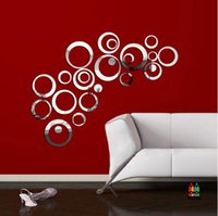 1 Set acrilico stile specchio Wall Sticker Decal rimovibile arte del vinile per la decorazione domestica, 24 PCS