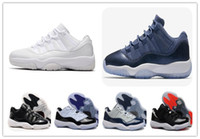 Wholesale Frost Cream - retro 11 Low HEIRESS FROST WHITE Blue Moon Carolina Concord bred Georgetown Space Jam 72-10 Basketball Shoes men Sports Shoes Athletic Boots