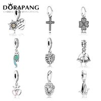 Wholesale factory family - DORAPANG 925 Sterling Silver Family Dad Mom Charm Beads Pendants Collocation Bracelet DIY bracelet Jewelry Factory wholesale