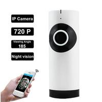 Wholesale High Definition Wireless Camera - 2017 new 360 ° housecraft artifact WIFI wireless high-definition 720P fisheye lens monitoring handheld night vision panoramic mini camera