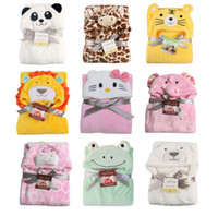 Wholesale newborn baby bedding sets for sale - Cartoon Baby Blanket Swaddle Infant Bedding Quilt Sleeping Bag Baby Clothing Sets Envelope Newborns Kawaii Kids Cloak