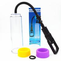 Wholesale sex enhancer for men - Medical High Vacuum Penis Pump Penis Enlargement Extender Device Adult Sex Toys Products for Men Masturbator Enhancer