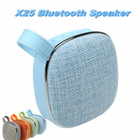 Wholesale Audio Card For Pc - Mini Speaker X25 Fabric Art Wireless Bluetooth Speaker Mini Audio Portable Outdoor Subwoofer Mini Speaker Support TF Card for Phones PC
