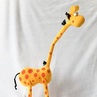 Wholesale Stuffed Giraffe Plush Toy - 35cm Cute Cartoon Giraffe Plush Toys Stuffed Animals Dolls for Children Birthday Christmas Gifts Wedding Party Decor
