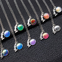 Wholesale Crystal Mermaid Necklaces - Ocean Series Multicolor Mermaid Jewelry Mermaid & Mermaid Scale Necklace Charm Mixed Wholesale On Behalf Of The Delivery