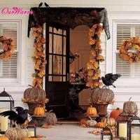 ingrosso pizzo web-Decorazione di Halloween Ragnatela Camino Sciarpa Black Lace Spider Web Mantle per la casa Halloween Party Decoration Ornamenti di Halloween