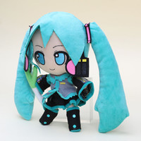 Wholesale Wholesale Childrens Stuff - 24cm Japanese anime Hatsune Miku VOCALOID Smile Stuffed Soft Doll Plush Toy Gift childrens christmas gift