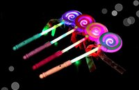 34CM Cute Lollipop Ribbons LED Glowing Stick piscando Light Kids Concert Wedding Birthday Party Decoration ZA3718 livre navio