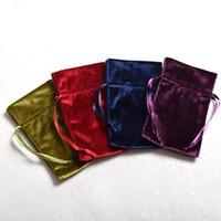 bolsos de lazo púrpura al por mayor-10 unids / lote bolso de la bolsa del tarot bolsa de cordón para tarjetas regalos de la baratija dados Wicca accesorios de cosplay verde / rojo / azul / púrpura