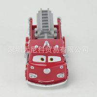 Wholesale Toys Model Fire Car - Cars 2 Original Pixar Red Fire Truck Cars Metal Toy Car Model For Children Kid Gift