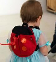 Wholesale Baby Kid Keeper Safety - Baby Kid beetles Keeper Toddler Safety belt Backpack Bag Strap Rein Baby ladybug Anti-lost Walking Wings Bags Backpacks