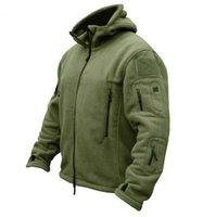 männer militärische mäntel groihandel-US Military Man Fleece Tactical Jacket Thermo Atmungsaktiver Polar Kapuzenmantel Lässige Oberbekleidung Armee Kleidung
