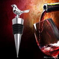 Wholesale Love Wine Pourer - Party Supplies Wine Bottle Stopper Stainless Steel Love Bird Wine Stopper Wine Pourer Vinhos Stoppers Bridal Wedding Gifts