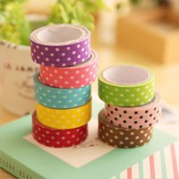 Atacado- 2016 8 cores Diy Cute Cartoon Stickers e papel Tape Collage Decorative Dot Stationery