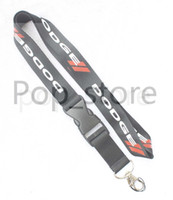 Chaud! Voiture de l'automobile DoDGE Key Chain ID Badge support du téléphone portable Neck Strap noir.